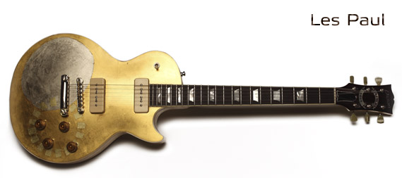 LES PAUL GOLD TOP - Gold and silver plated by Jindrich Zeithamel